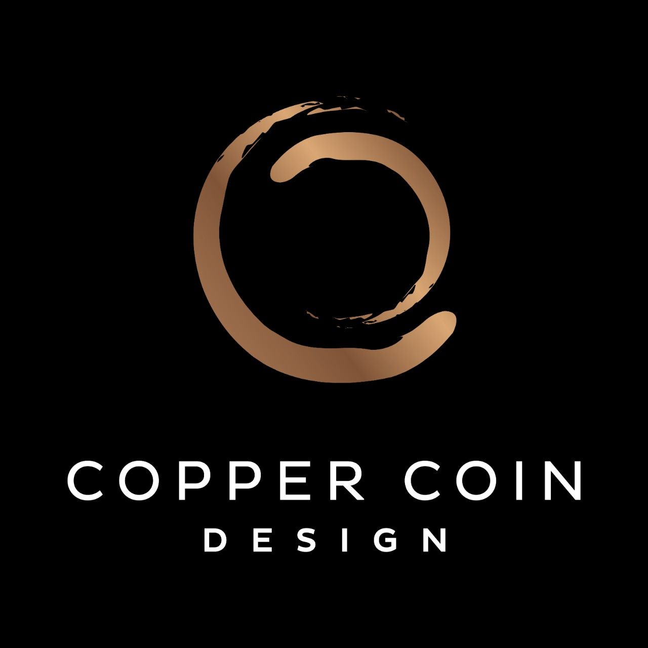 copper coin design logo
